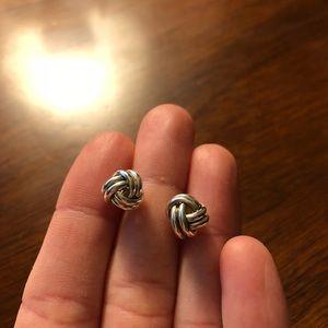 Talbots Silver Knot Earrings